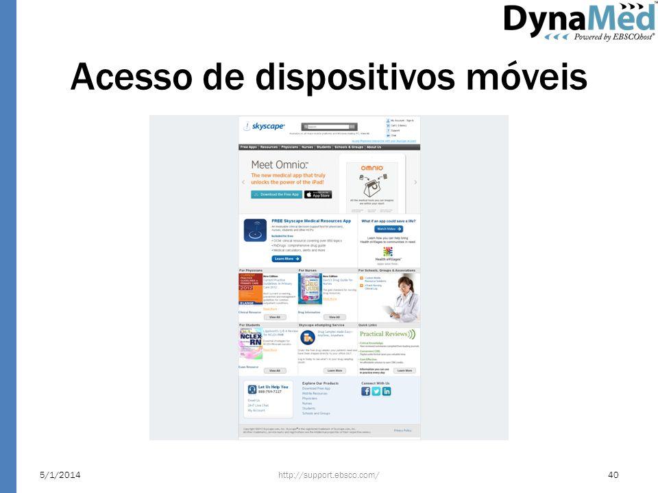 Acesso de dispositivos móveis http://support.ebsco.com/5/1/201440