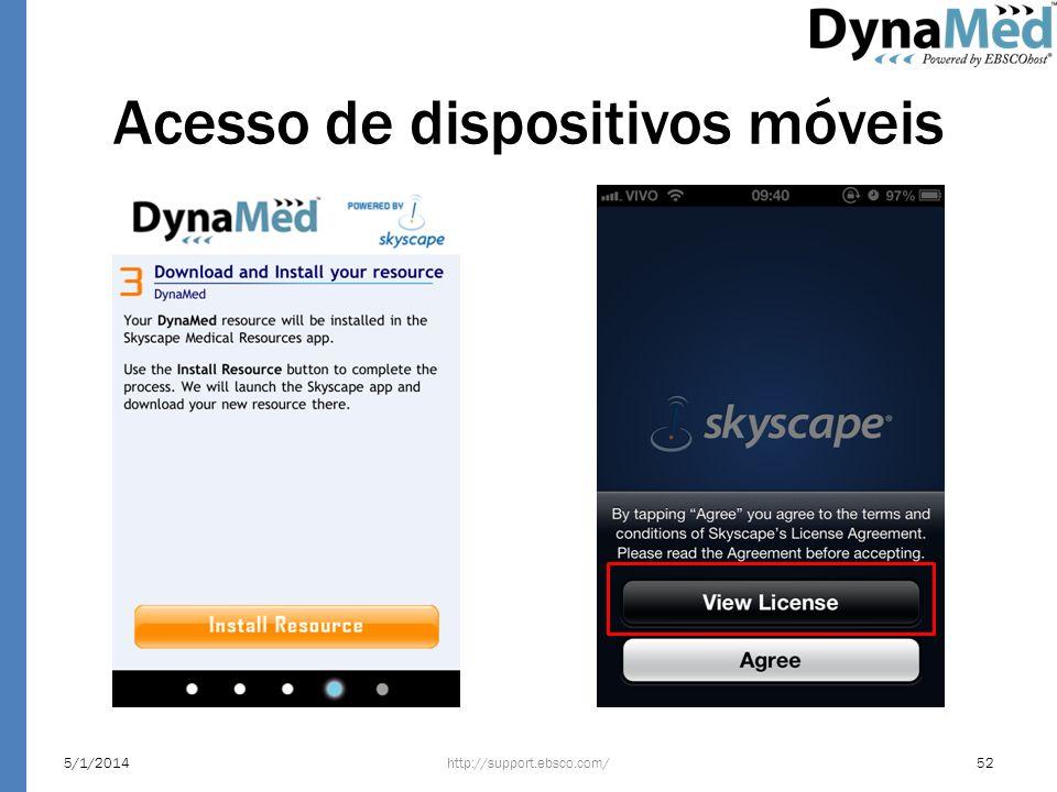 Acesso de dispositivos móveis http://support.ebsco.com/5/1/201452