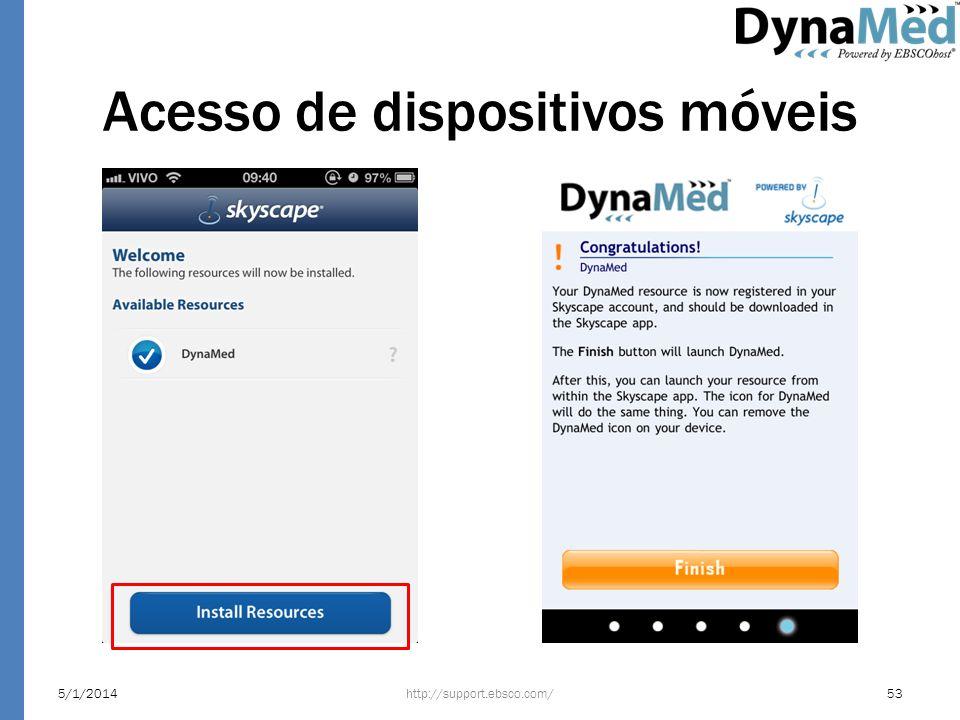 Acesso de dispositivos móveis http://support.ebsco.com/5/1/201453