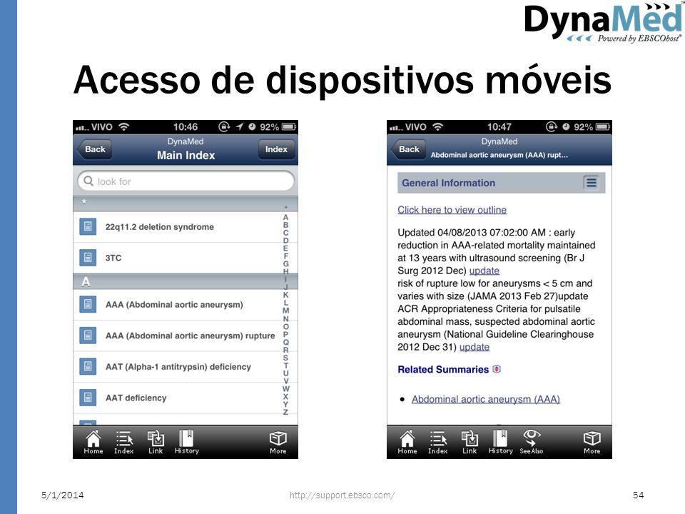 Acesso de dispositivos móveis http://support.ebsco.com/5/1/201454
