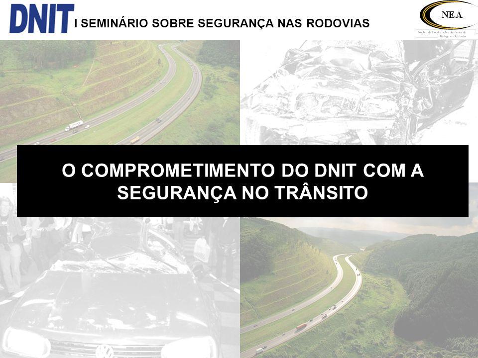 I SEMINÁRIO SOBRE SEGURANÇA NAS RODOVIAS O COMPROMETIMENTO DO DNIT COM A SEGURANÇA NO TRÂNSITO