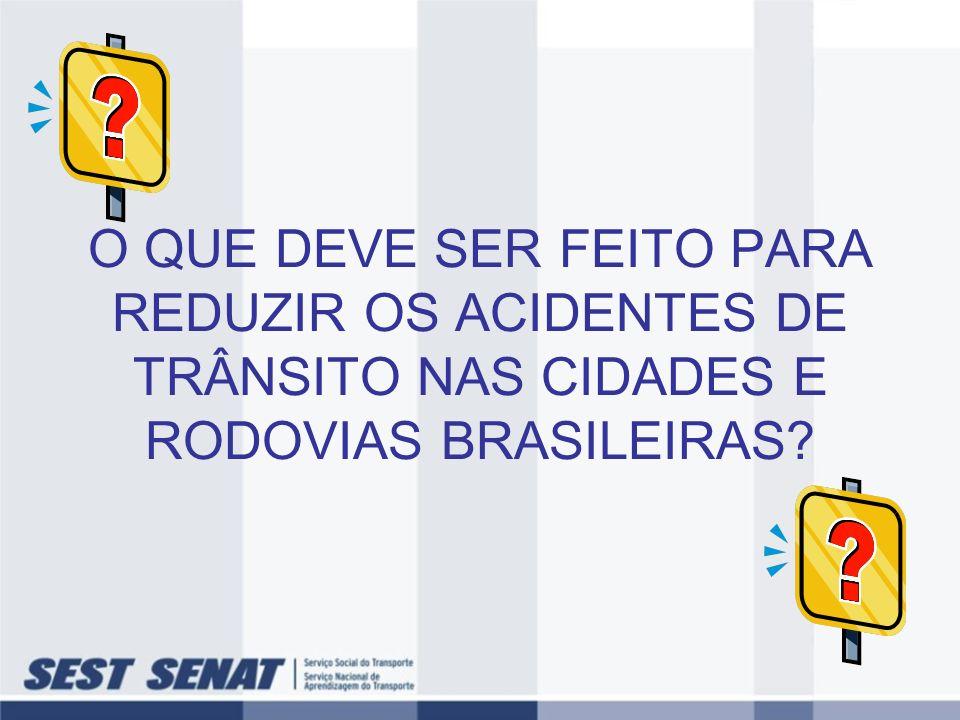 O QUE DEVE SER FEITO PARA REDUZIR OS ACIDENTES DE TRÂNSITO NAS CIDADES E RODOVIAS BRASILEIRAS?