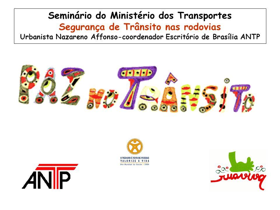 Seminário do Ministério dos Transportes Segurança de Trânsito nas rodovias Urbanista Nazareno Affonso-coordenador Escritório de Brasília ANTP