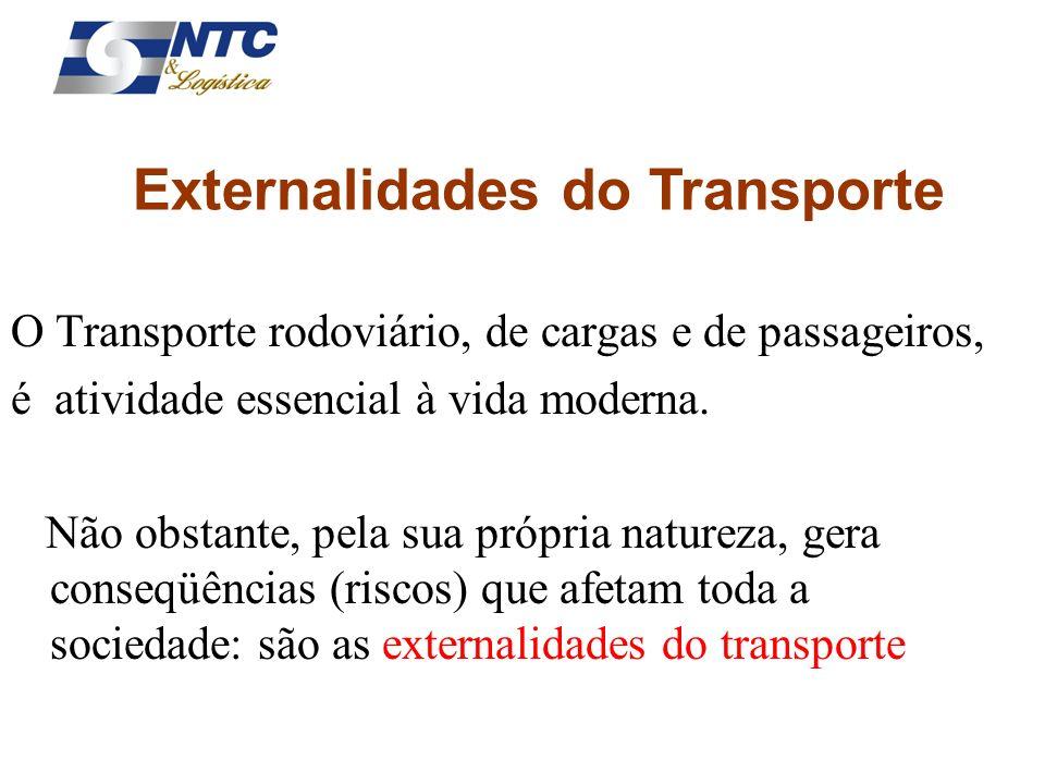O Transporte rodoviário, de cargas e de passageiros, é atividade essencial à vida moderna. Não obstante, pela sua própria natureza, gera conseqüências