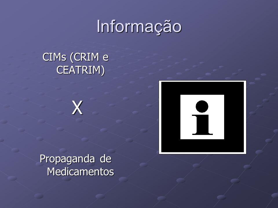 Informação CIMs (CRIM e CEATRIM) X Propaganda de Medicamentos