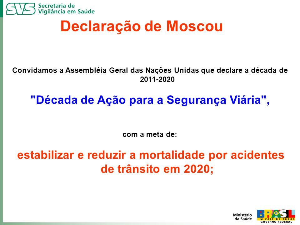 Declaração de Moscou Convidamos a Assembléia Geral das Nações Unidas que declare a década de 2011-2020