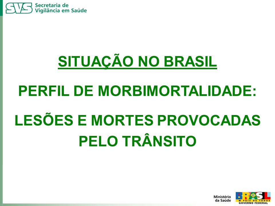 SITUAÇÃO NO BRASIL PERFIL DE MORBIMORTALIDADE: LESÕES E MORTES PROVOCADAS PELO TRÂNSITO