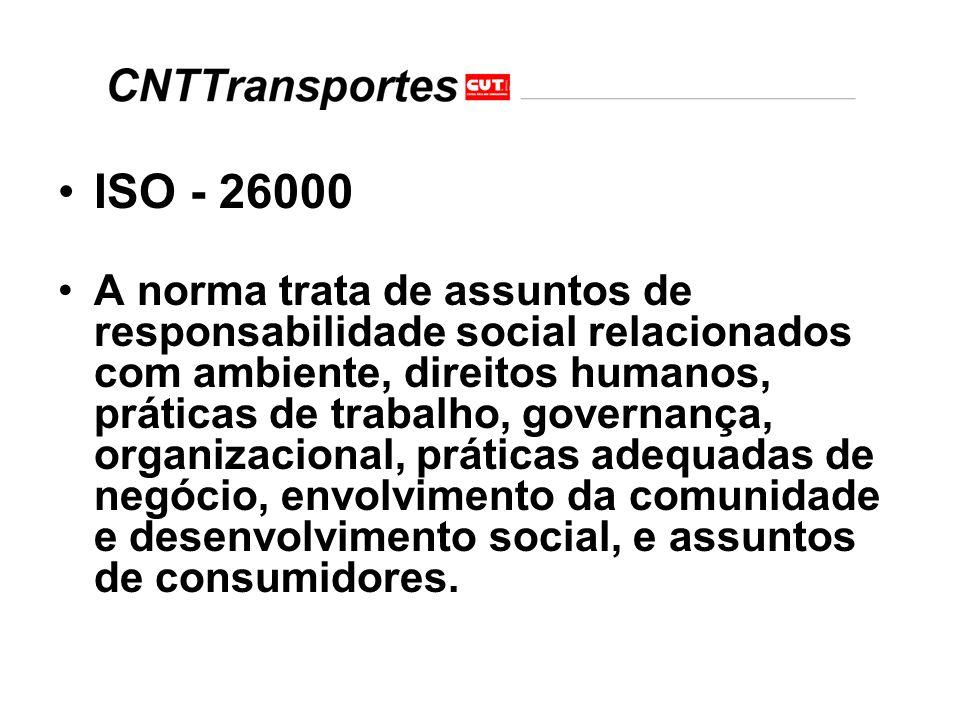 Esta norma fornece diretrizes para todos os tipos de organizações em assuntos relacionados com responsabilidade social.