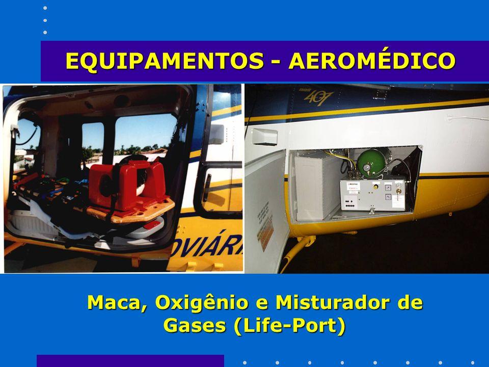 Maca, Oxigênio e Misturador de Gases (Life-Port) EQUIPAMENTOS - AEROMÉDICO
