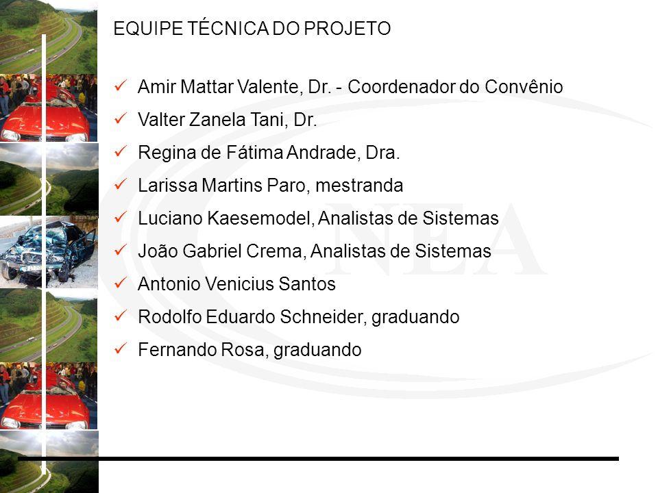 Amir Mattar Valente, Dr. - Coordenador do Convênio Valter Zanela Tani, Dr. Regina de Fátima Andrade, Dra. Larissa Martins Paro, mestranda Luciano Kaes