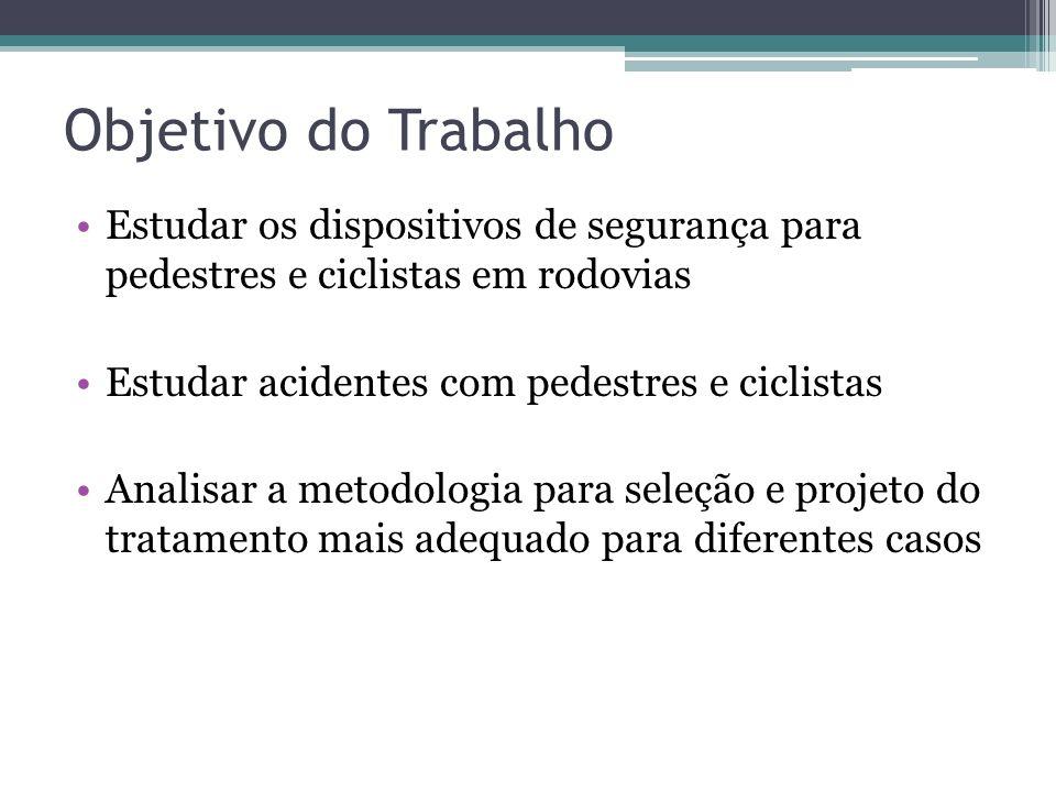 1. Introdução Objetivo do trabalho Justificativa Conceituação dos acidentes Tipos de medidas Contexto de aplicação
