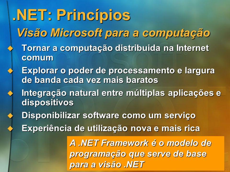 21 As ferramentas de desenvolvimento Cobol RPG MS-BASIC Turbo Pascal QuickBasic Visual Basic PowerBuilder Delphi GUI O PC A Web O sistema XML Web Serv