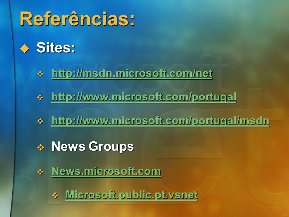 47.NET em suma A plataforma de desenvolvimento de software da Microsoft para a próxima década A plataforma de desenvolvimento de software da Microsoft