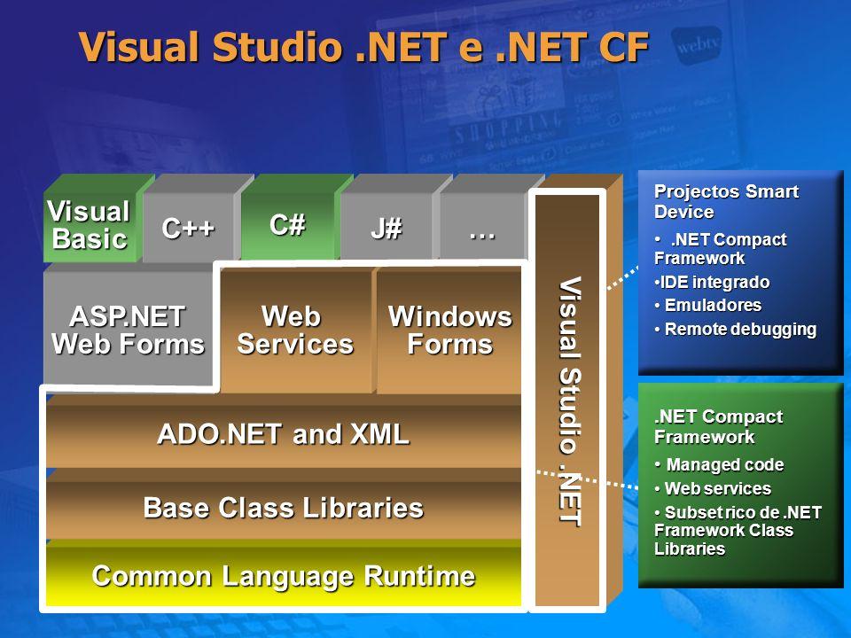 Data Access Classes XML Não Suportadas XmlDataDocument XmlDataDocument Vistas Relacionais e hierárquicas de XML Vistas Relacionais e hierárquicas de XML XPath XPath Query sobre dados XML não estruturados Query sobre dados XML não estruturados XSL/T XSL/T Transforma XML em outros formatos Transforma XML em outros formatos XML Validation XML Validation Verifica exactidão do documento XML Verifica exactidão do documento XML