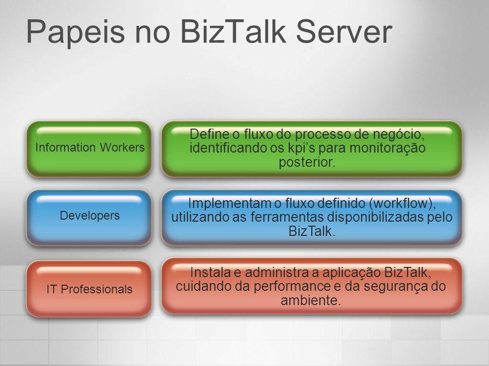 Instala e administra a aplicação BizTalk, cuidando da performance e da segurança do ambiente. Implementam o fluxo definido (workflow), utilizando as f