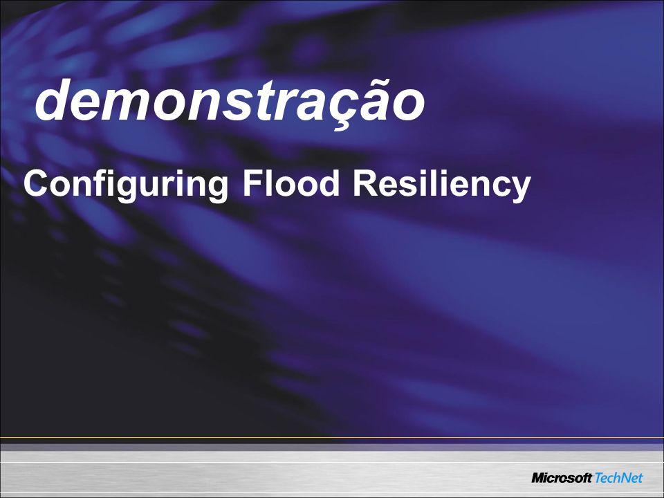 Demo Configuring Flood Resiliency demonstração