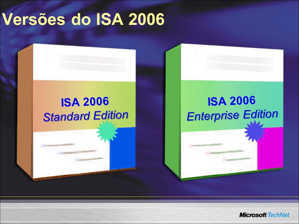 Versões do ISA 2006 ISA 2006 Standard Edition ISA 2006 Enterprise Edition