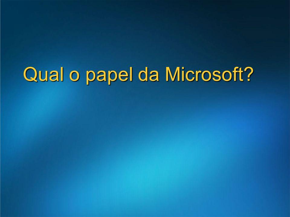 Qual o papel da Microsoft?