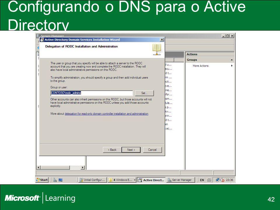 42 Configurando o DNS para o Active Directory