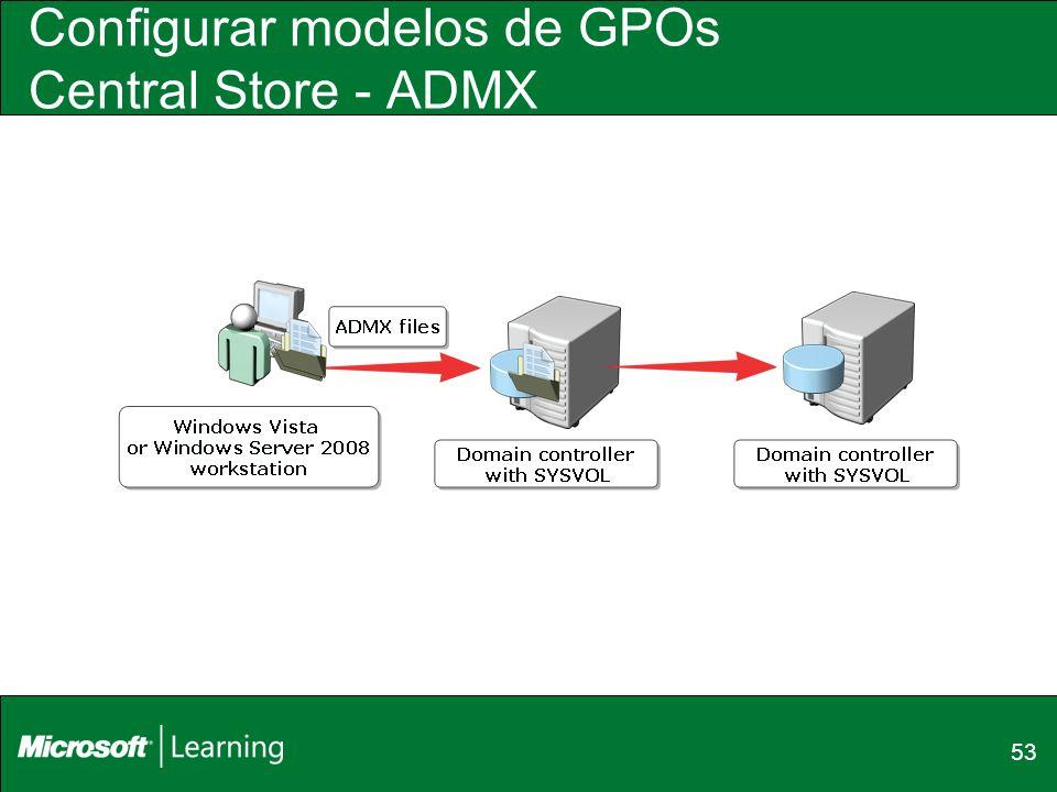 Configurar modelos de GPOs Central Store - ADMX 53