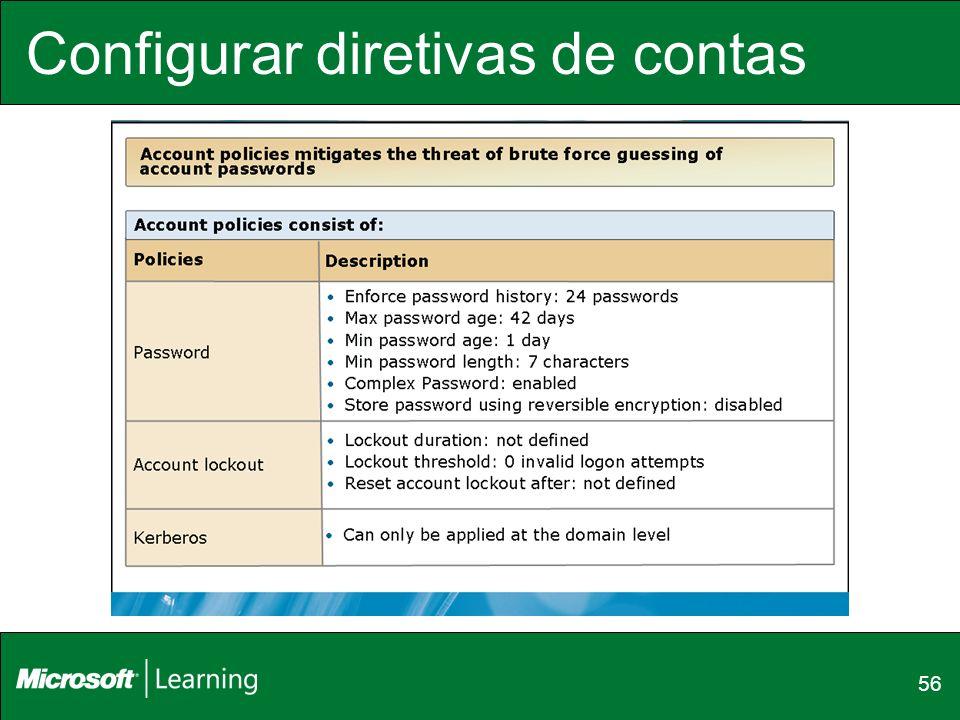 Configurar diretivas de contas 56