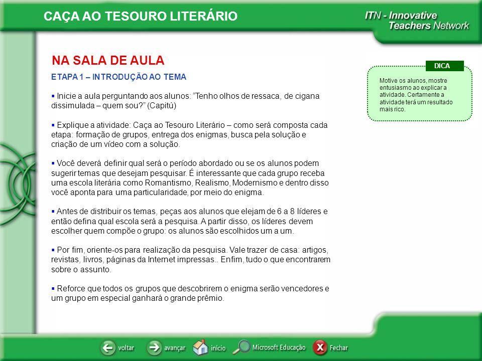 CAÇA AO TESOURO LITERÁRIO .