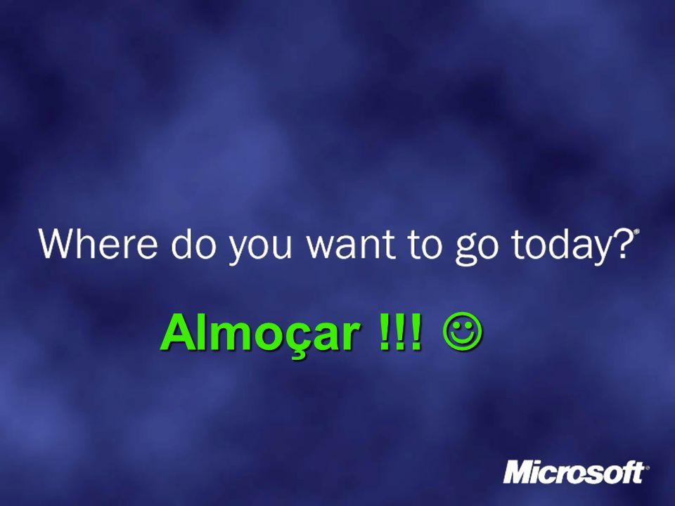 Referências: Sites: Sites: http://msdn.microsoft.com/net http://msdn.microsoft.com/net http://msdn.microsoft.com/net http://www.microsoft.com/portugal http://www.microsoft.com/portugal http://www.microsoft.com/portugal http://www.microsoft.com/portugal/msdn http://www.microsoft.com/portugal/msdn http://www.microsoft.com/portugal/msdn News Groups News Groups News.microsoft.com News.microsoft.com News.microsoft.com – Microsoft.public.pt.vsnet Microsoft.public.pt.vsnet