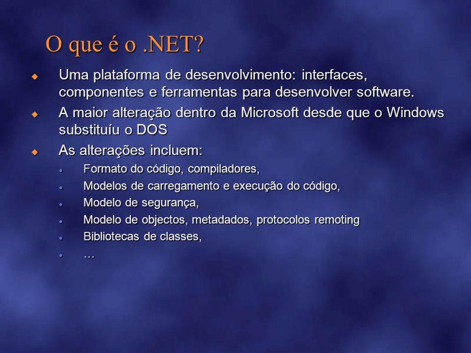 O que é o.NET.