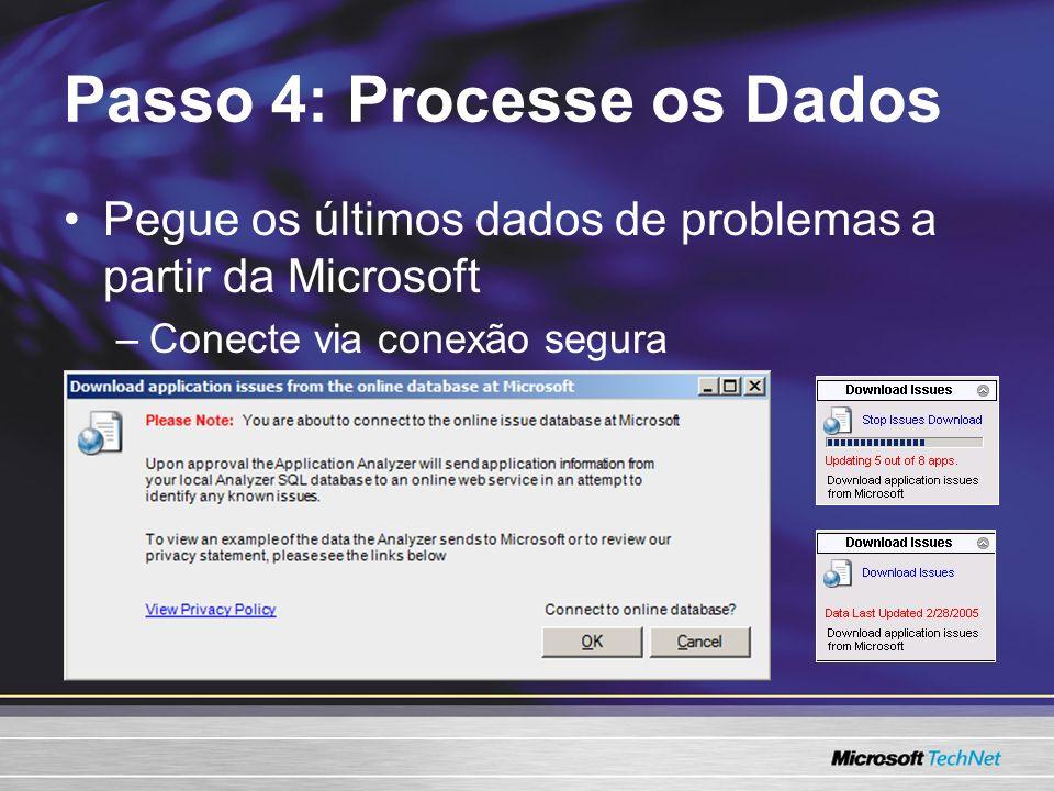 Pegue os últimos dados de problemas a partir da Microsoft –Conecte via conexão segura Passo 4: Processe os Dados