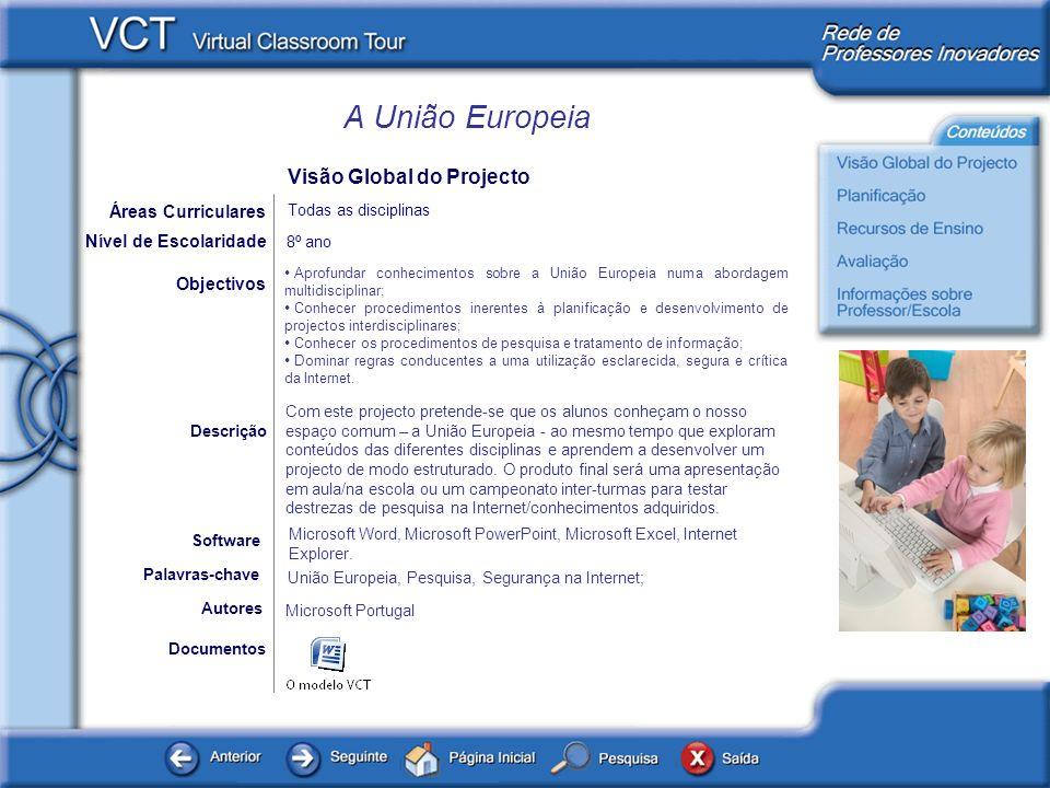 A União Europeia Documentos Autores Microsoft Portugal Objectivos Microsoft Word, Microsoft PowerPoint, Microsoft Excel, Internet Explorer. Software D