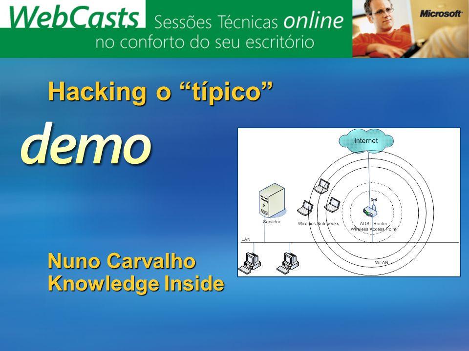 Nuno Carvalho Knowledge Inside Hacking o típico