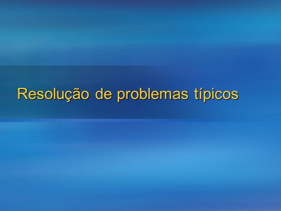 Resolução de problemas típicos