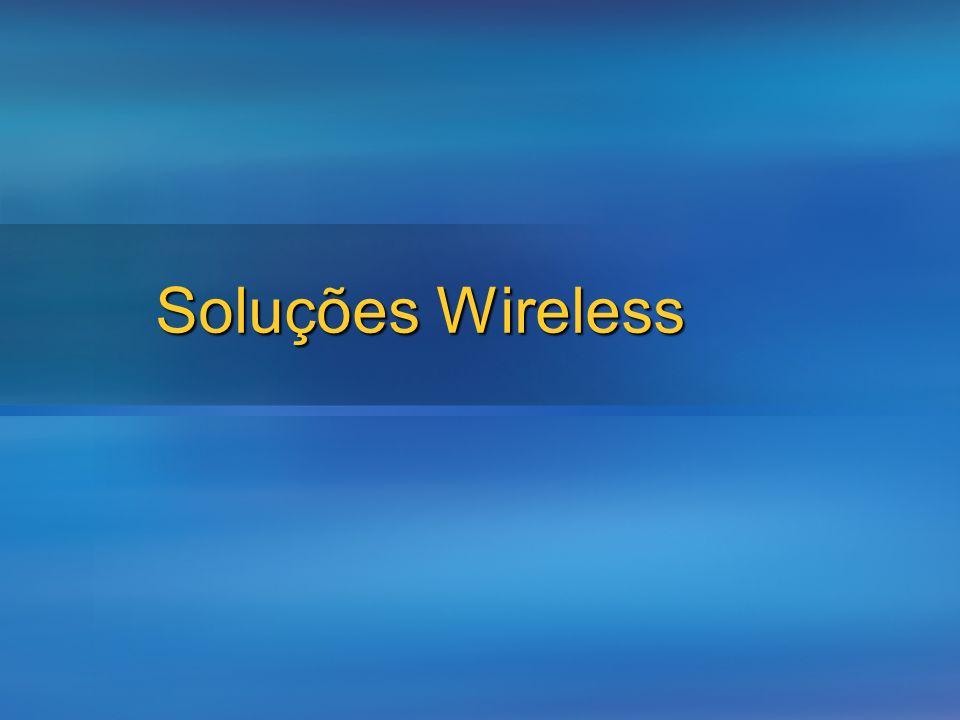 Wireless Standards StandardDescription802.11 Especificação que define os conceitos base para as redes sem fios 802.11a Velocidade de transmissão até 54 megabits (Mbps) por segundo 802.11b 11 Mbps Bom alcance mas susceptível a interferências 802.11g 54 Mbps Menos alcance que o 802.11b 802.11i Standard para autenticação e encriptação em redes wireless 802.1X - Standard que define um mecanismo de autenticação baseado em acesso por porta e como opção a gestão das chaves usadas para encriptar a informação