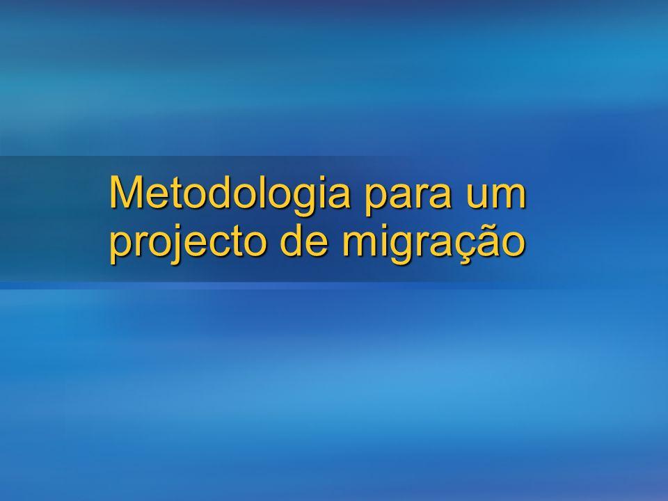 Metodologia para um projecto de migração