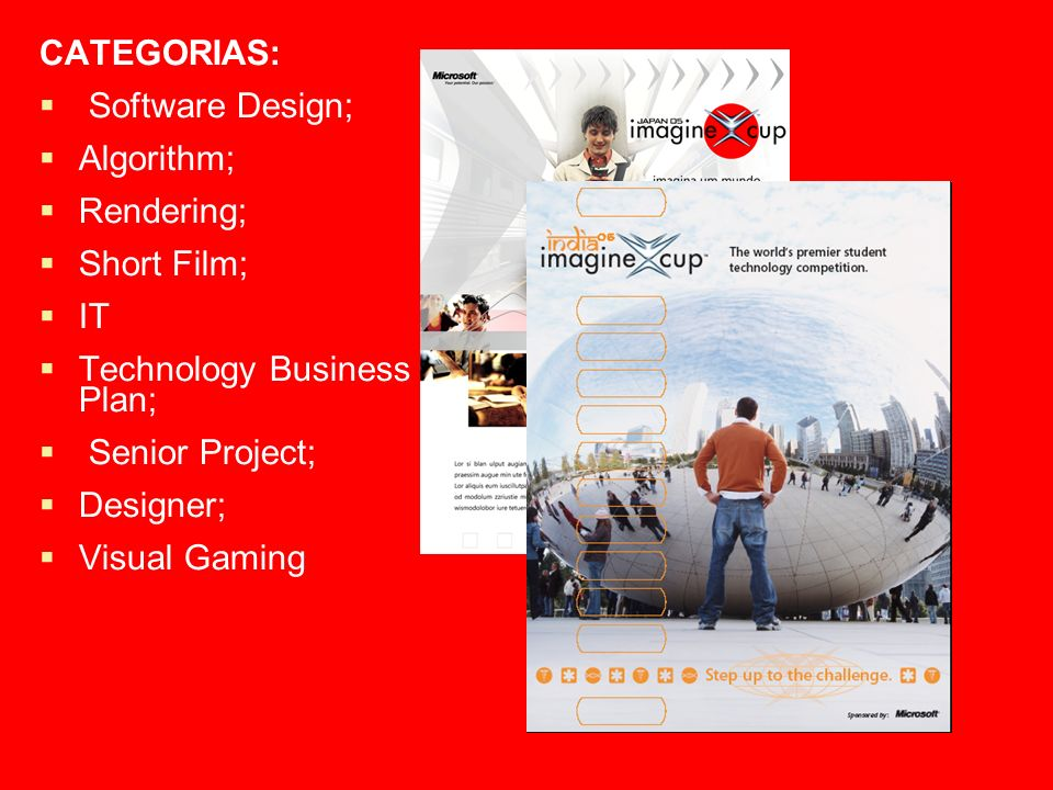 CATEGORIAS: Software Design; Algorithm; Rendering; Short Film; IT Technology Business Plan; Senior Project; Designer; Visual Gaming