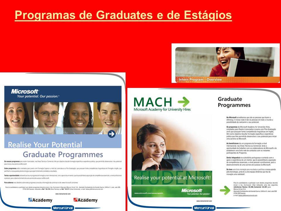 Programas de Graduates e de Estágios