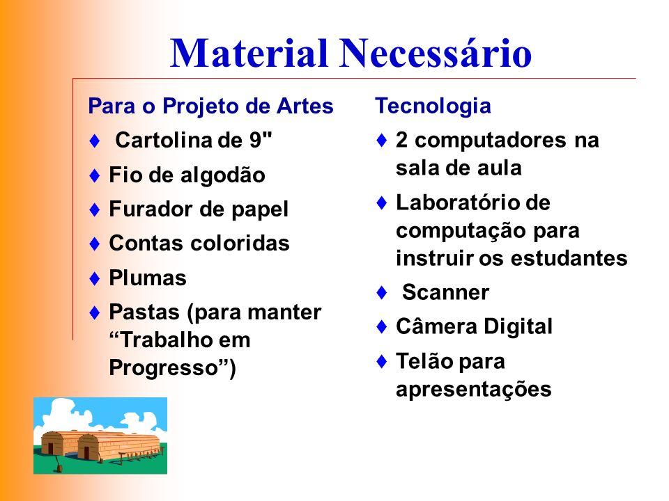 Material Necessário Para o Projeto de Artes Cartolina de 9