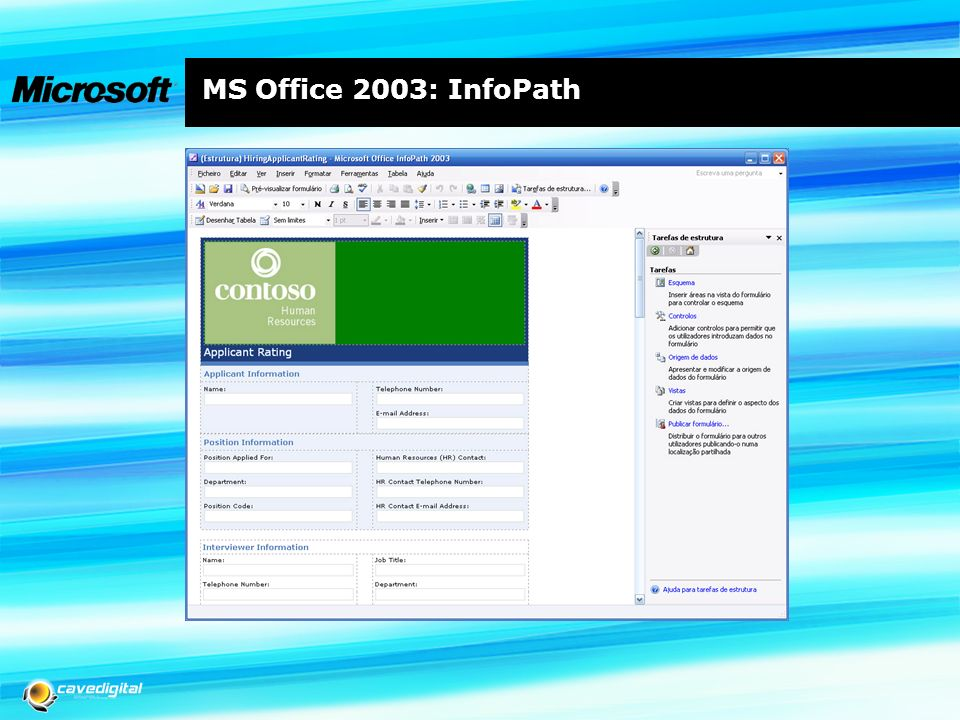 MS Office 2003: InfoPath