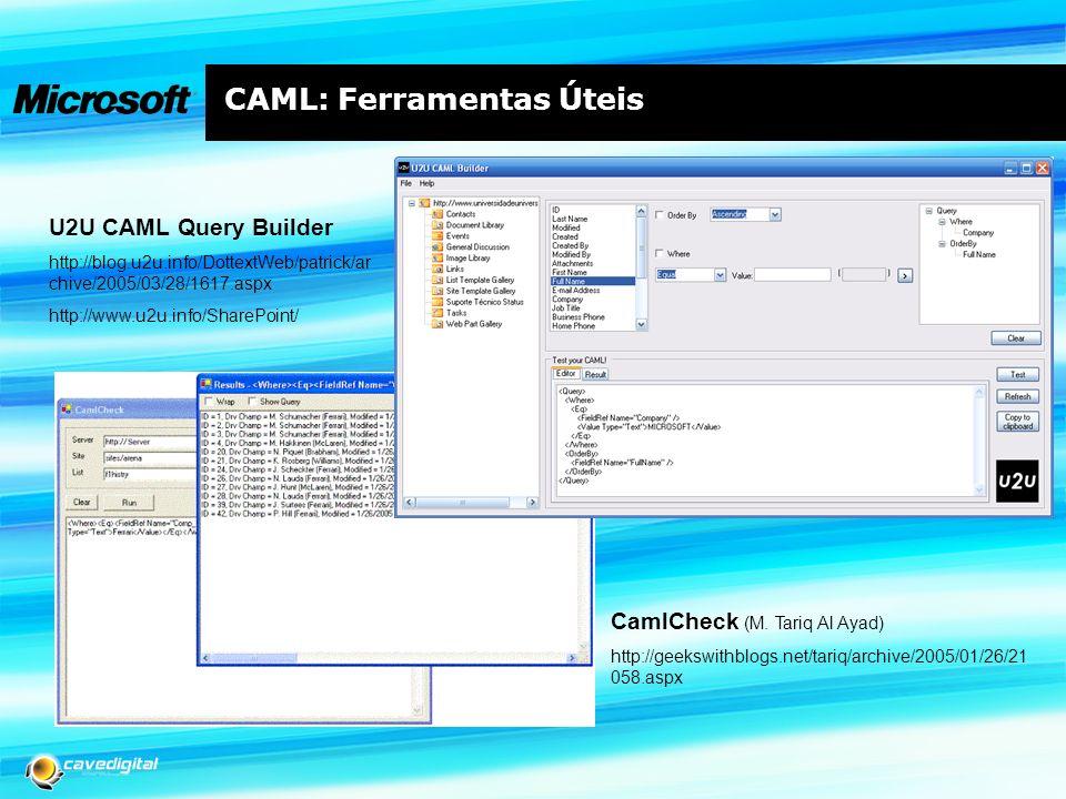 CAML: Ferramentas Úteis CamlCheck (M.
