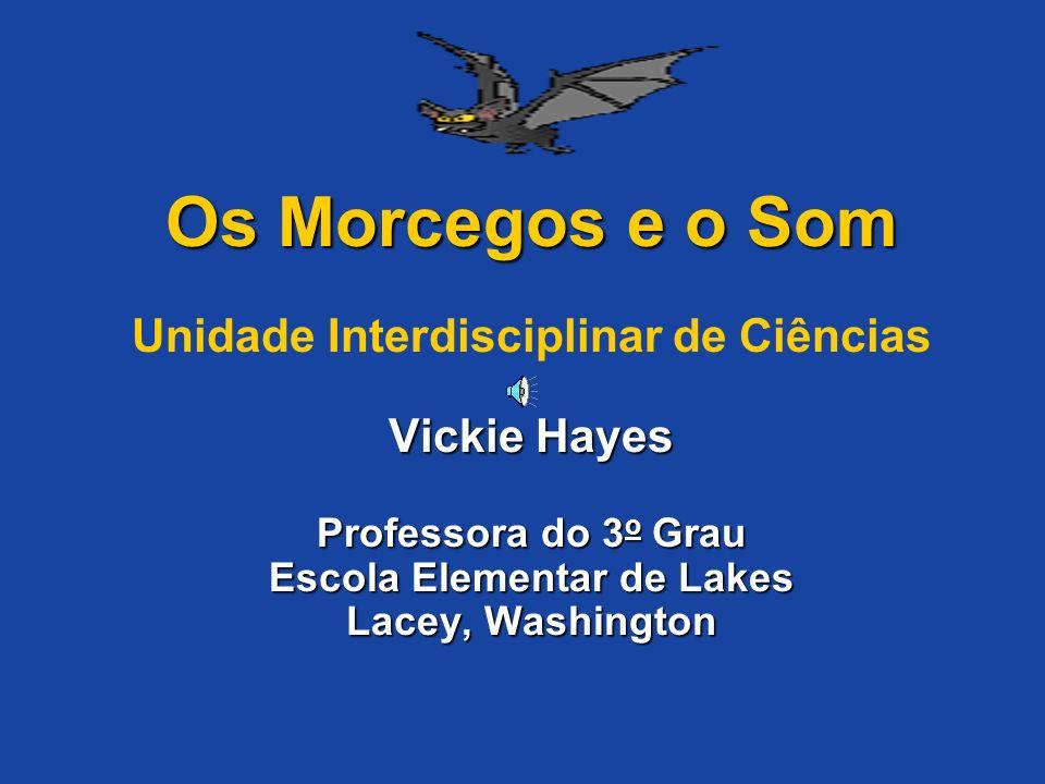Os Morcegos e o Som Vickie Hayes Professora do 3 o Grau Escola Elementar de Lakes Lacey, Washington Os Morcegos e o Som Unidade Interdisciplinar de Ciências Vickie Hayes Professora do 3 o Grau Escola Elementar de Lakes Lacey, Washington