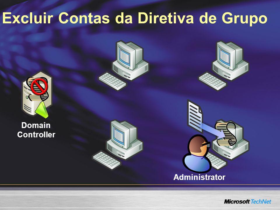 Excluir Contas da Diretiva de Grupo Domain Controller Administrator