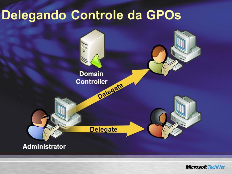 Delegando Controle da GPOs Domain Controller Administrator Delegate