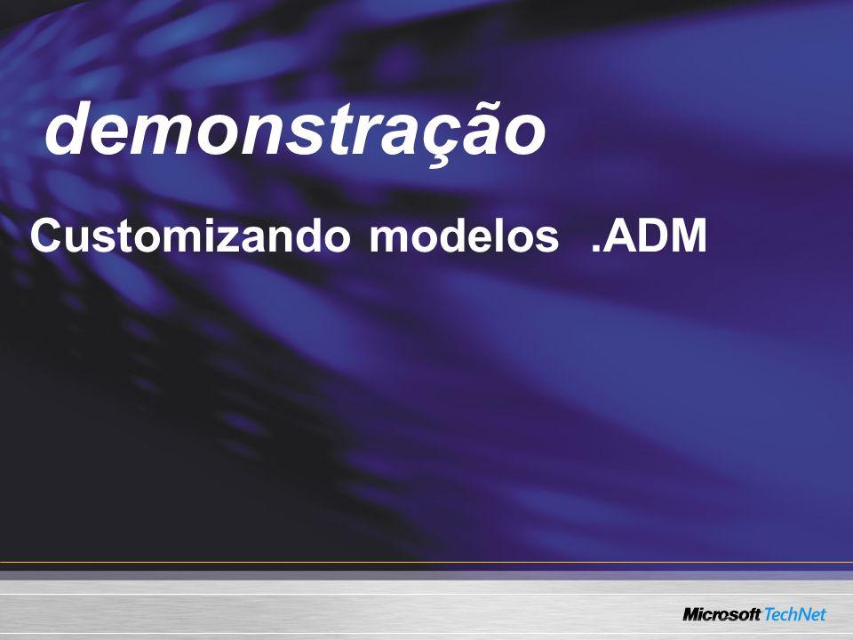 Demo Customizando modelos.ADM demonstração