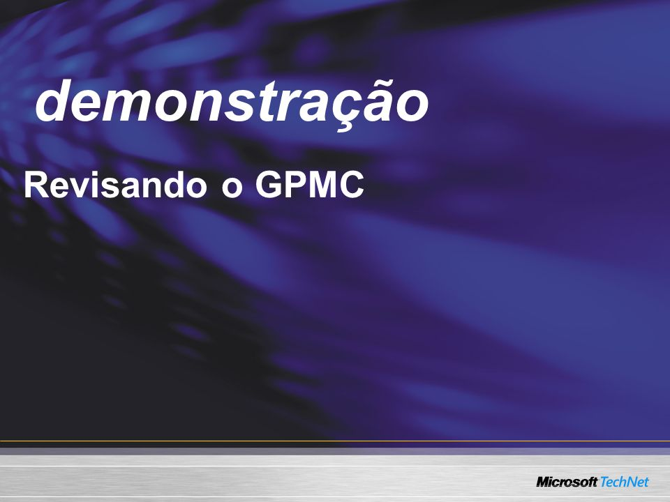 Demo Revisando o GPMC demonstração