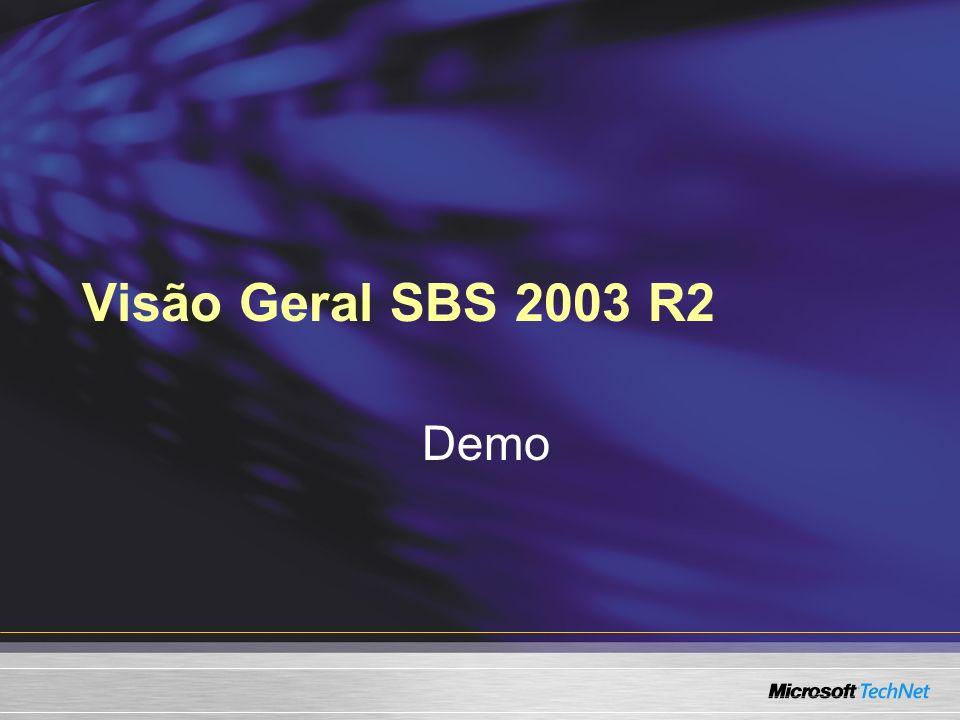 Visão Geral SBS 2003 R2 Demo