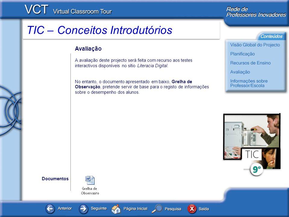 TIC – Conceitos Introdutórios Informações sobre professor / Escola www.microsoft.com/portugal www.microsoft.com/portugal/educacao Microsoft Portugal