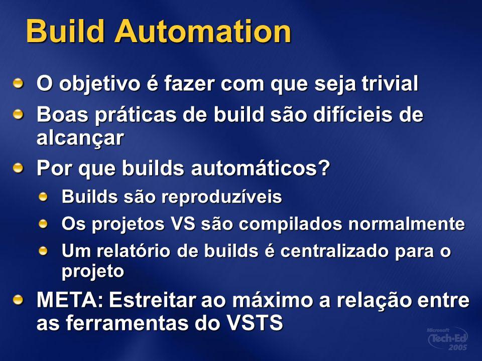 Build Automation O objetivo é fazer com que seja trivial Boas práticas de build são difícieis de alcançar Por que builds automáticos.