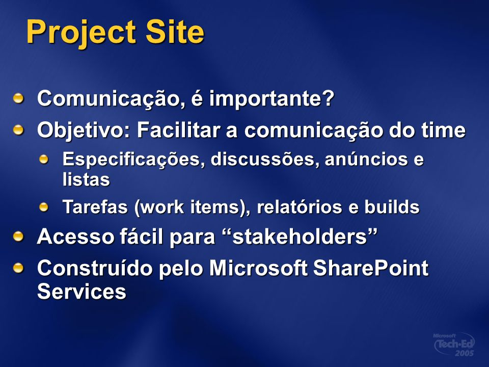 Project Site Comunicação, é importante.