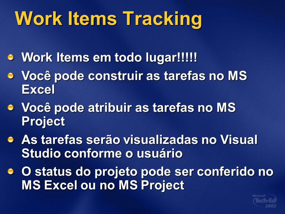 Work Items Tracking Work Items em todo lugar!!!!.