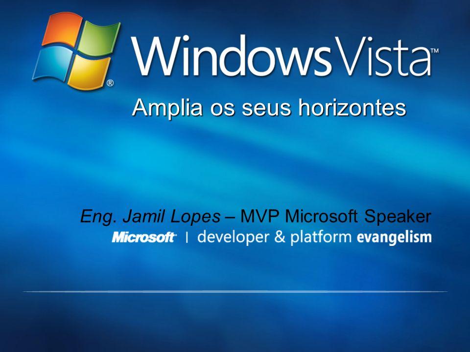 Amplia os seus horizontes Eng. Jamil Lopes – MVP Microsoft Speaker